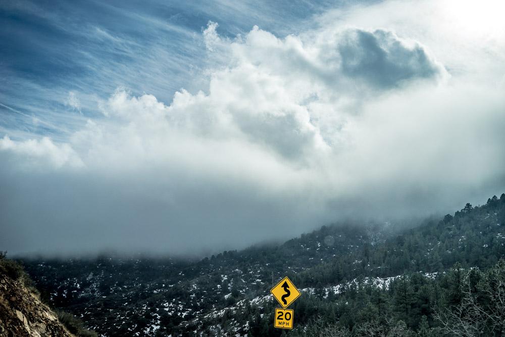 sky curvy road speed limit